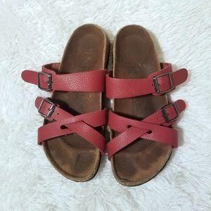 Birkenstock Birki's Nepal Red Sandals 7